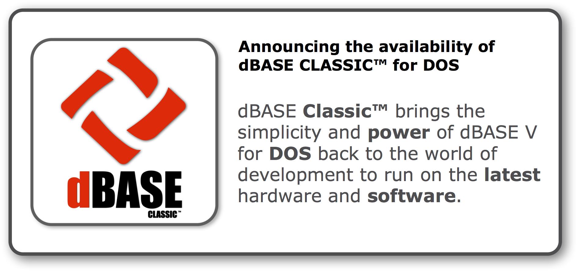 Buy dBASE CLASSIC